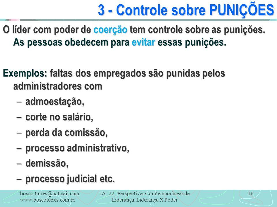 3 - Controle sobre PUNIÇÕES