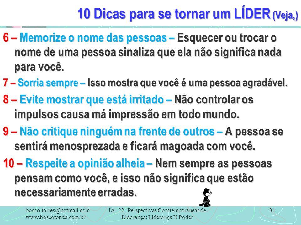 10 Dicas para se tornar um LÍDER (Veja,)