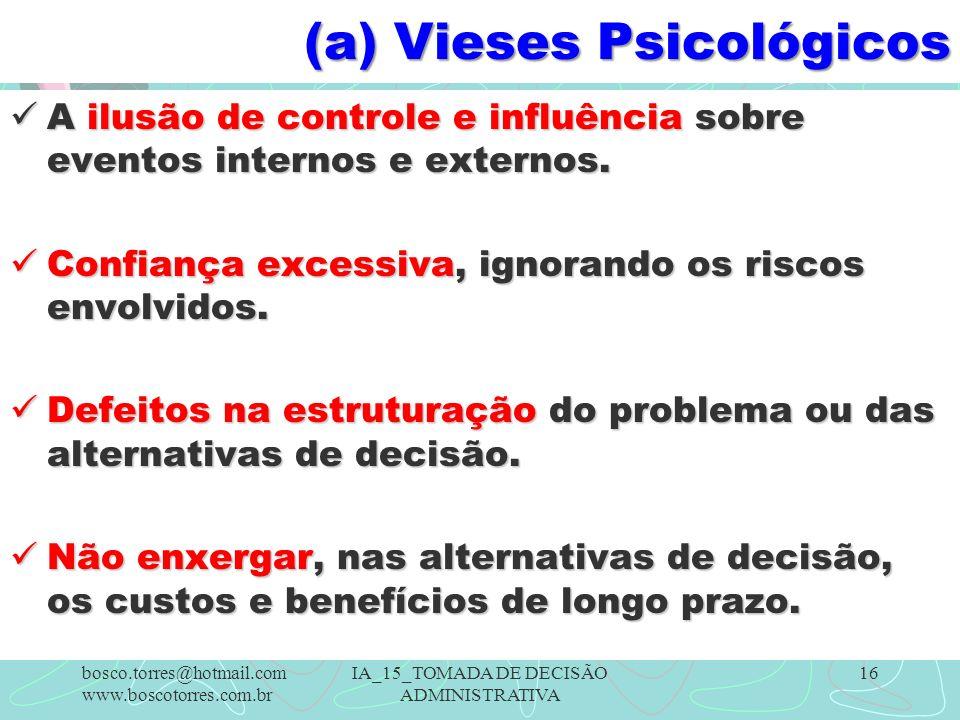 (a) Vieses Psicológicos