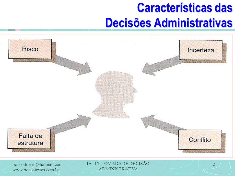 Características das Decisões Administrativas