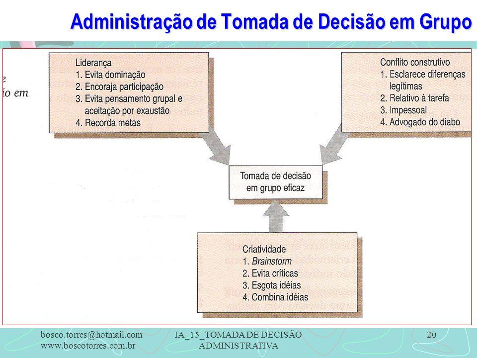 Administração de Tomada de Decisão em Grupo
