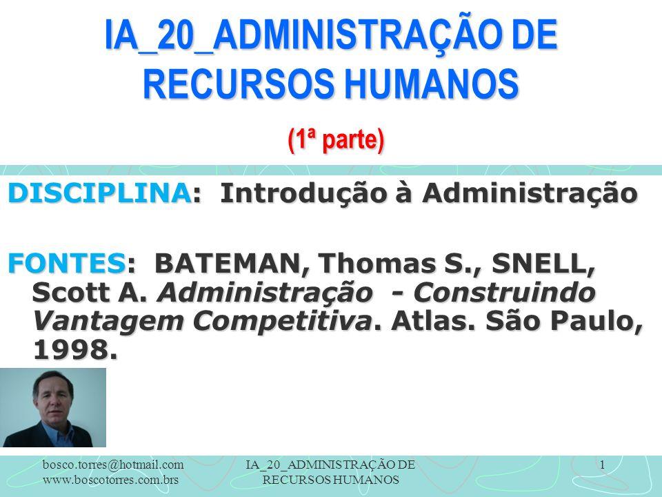 IA_20_ADMINISTRAÇÃO DE RECURSOS HUMANOS (1ª parte)
