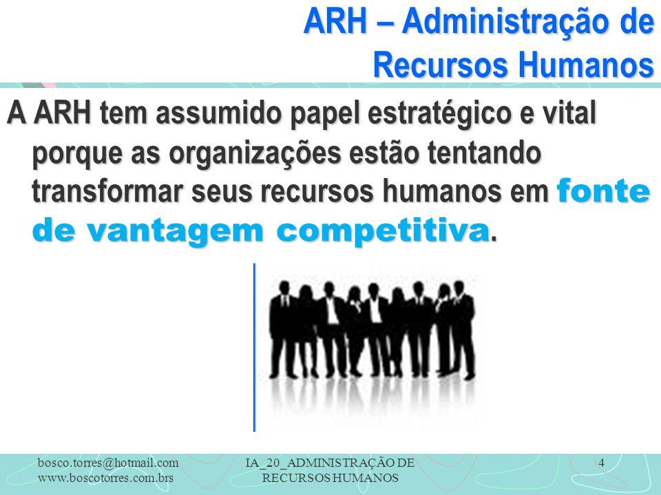 ARH – Administração de Recursos Humanos