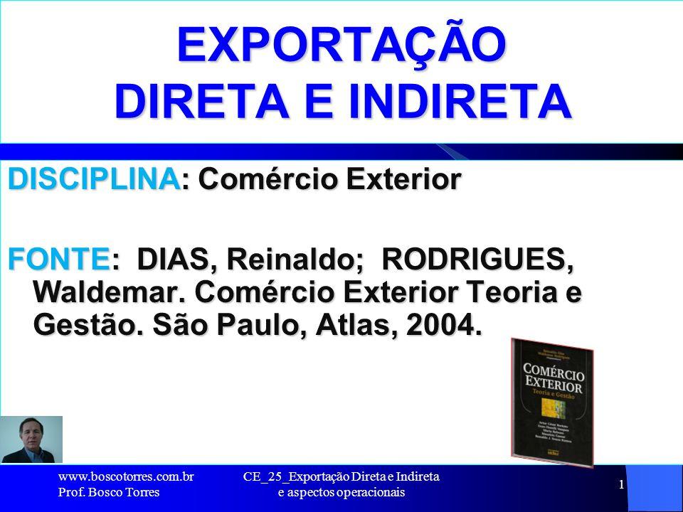 EXPORTAÇÃO DIRETA E INDIRETA