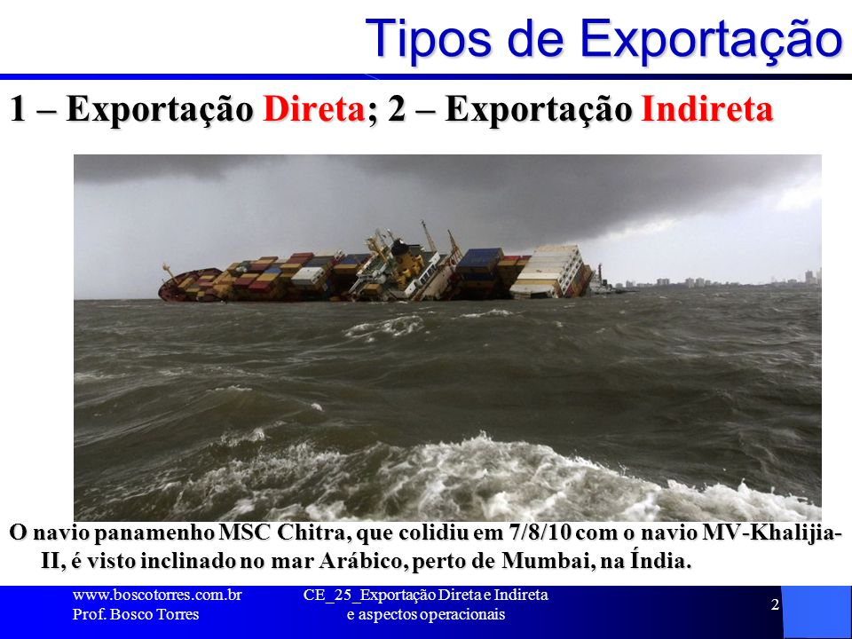 CE_25_Exportação Direta e Indireta e aspectos operacionais
