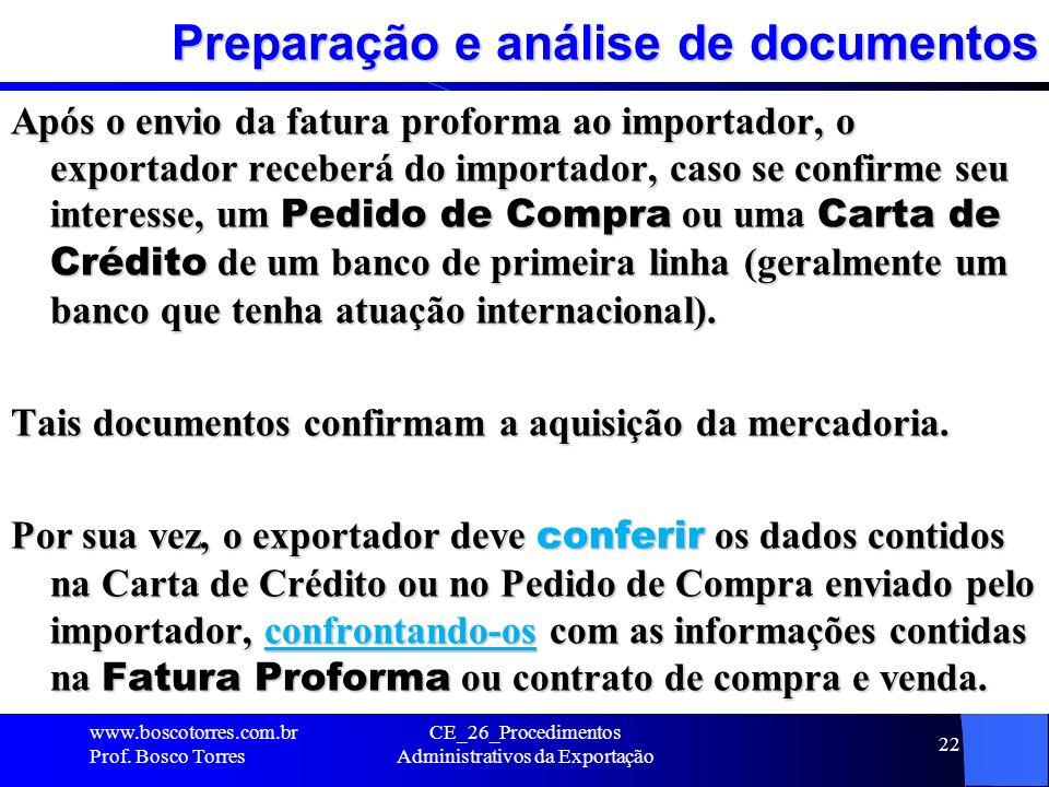 Preparação e análise de documentos