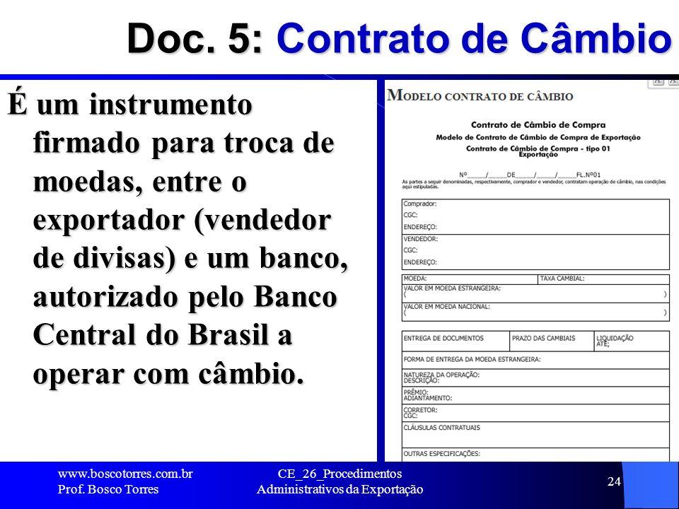 Doc. 5: Contrato de Câmbio