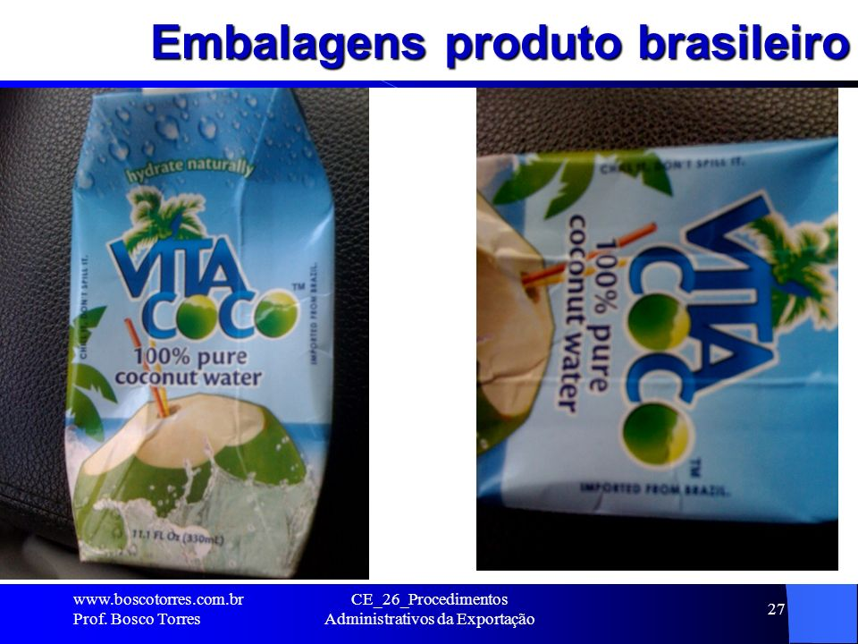 Embalagens produto brasileiro
