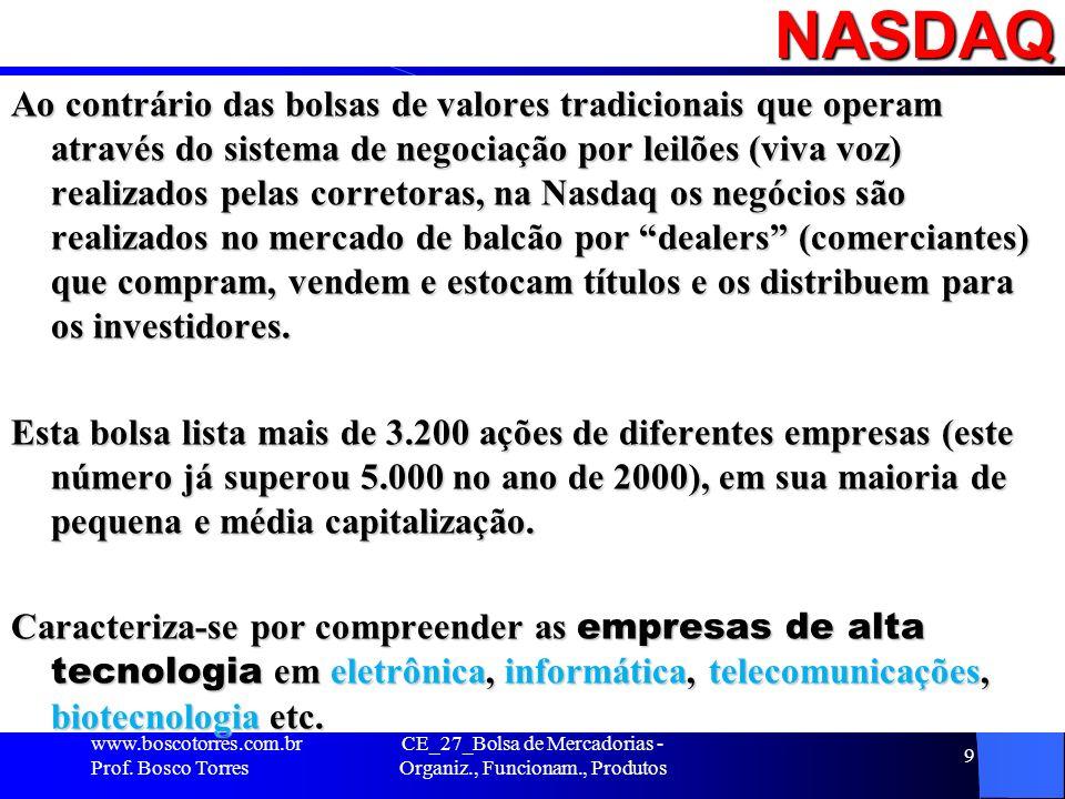 CE_27_Bolsa de Mercadorias - Organiz., Funcionam., Produtos