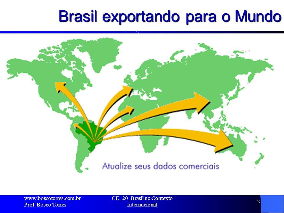 Brasil exportando para o Mundo