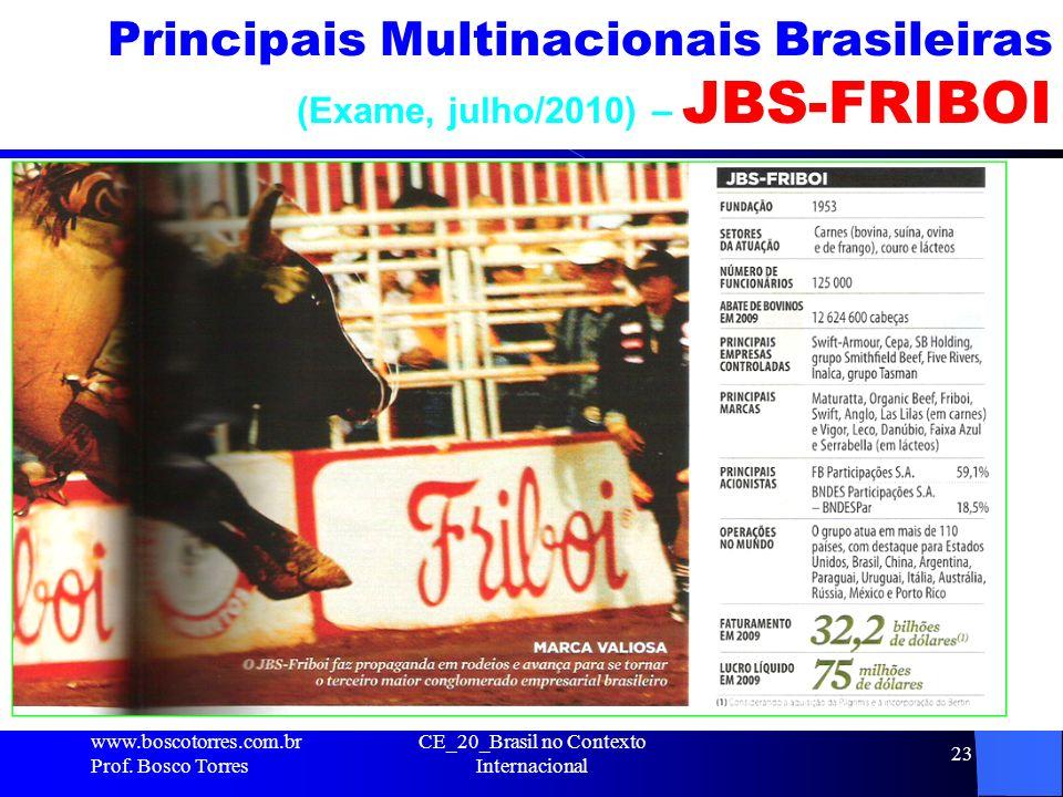 Principais Multinacionais Brasileiras (Exame, julho/2010) – JBS-FRIBOI
