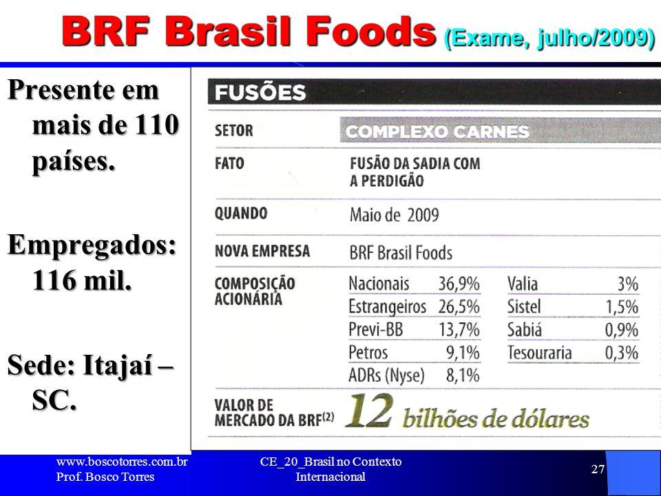 BRF Brasil Foods (Exame, julho/2009)