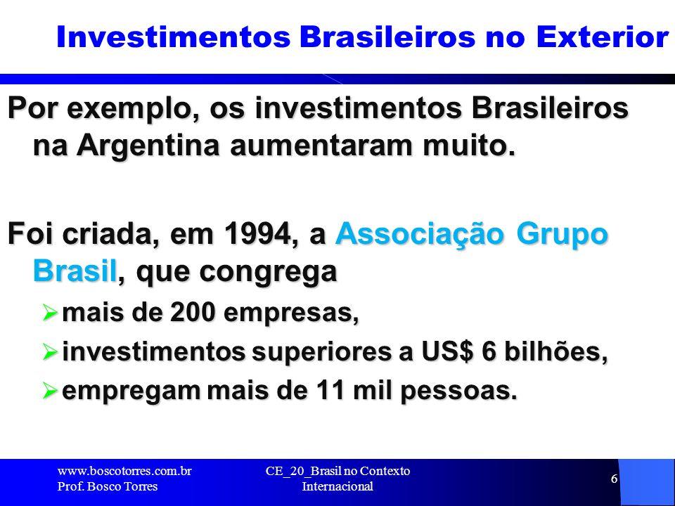 Investimentos Brasileiros no Exterior