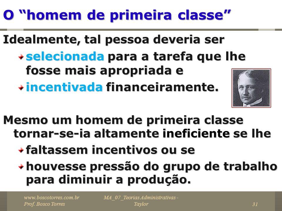 O homem de primeira classe