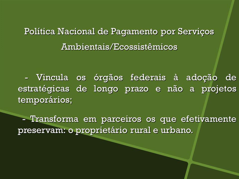 Política Nacional de Pagamento por Serviços Ambientais/Ecossistêmicos
