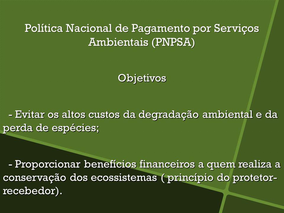 Política Nacional de Pagamento por Serviços Ambientais (PNPSA)