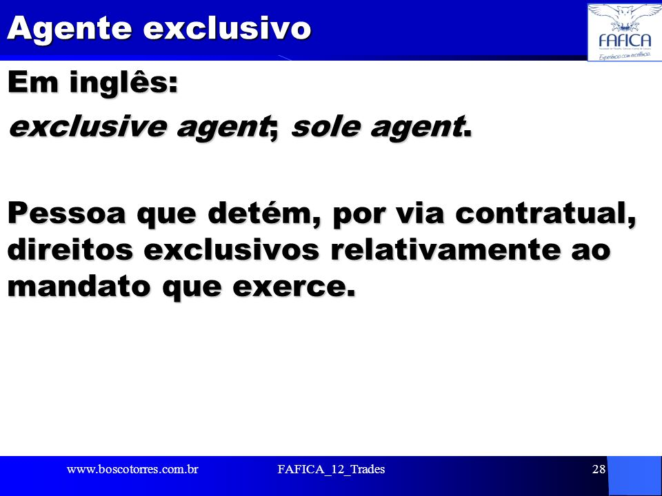 Agente exclusivo