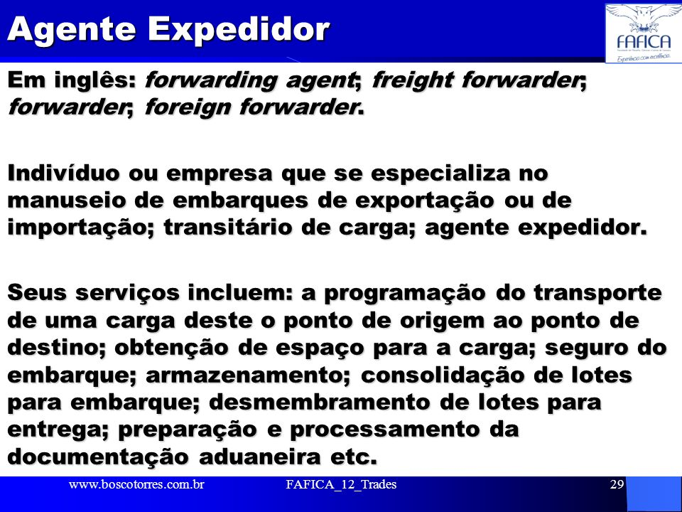 Agente Expedidor