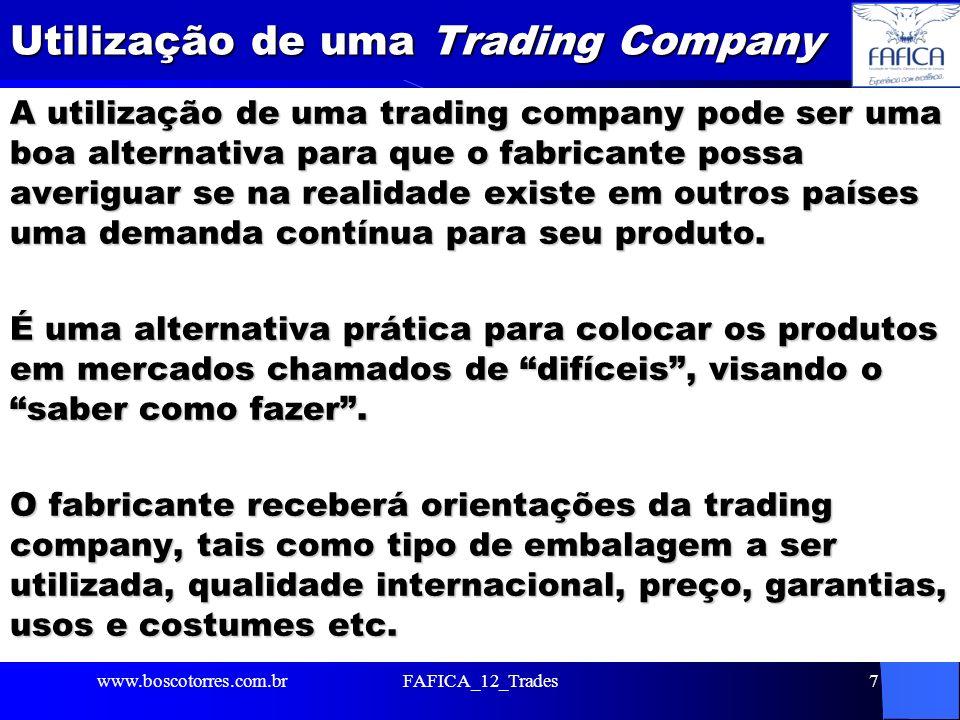 Utilização de uma Trading Company