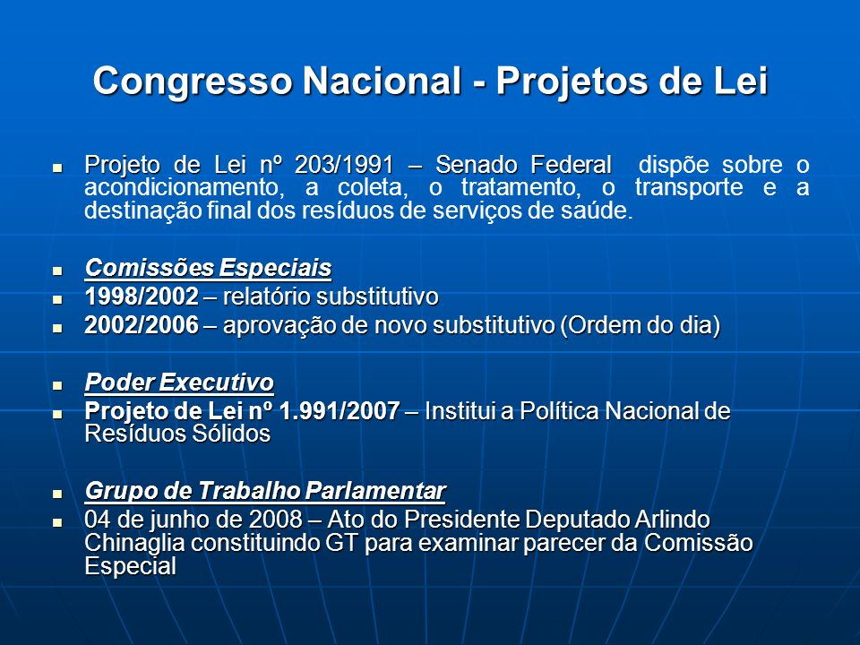 Congresso Nacional - Projetos de Lei