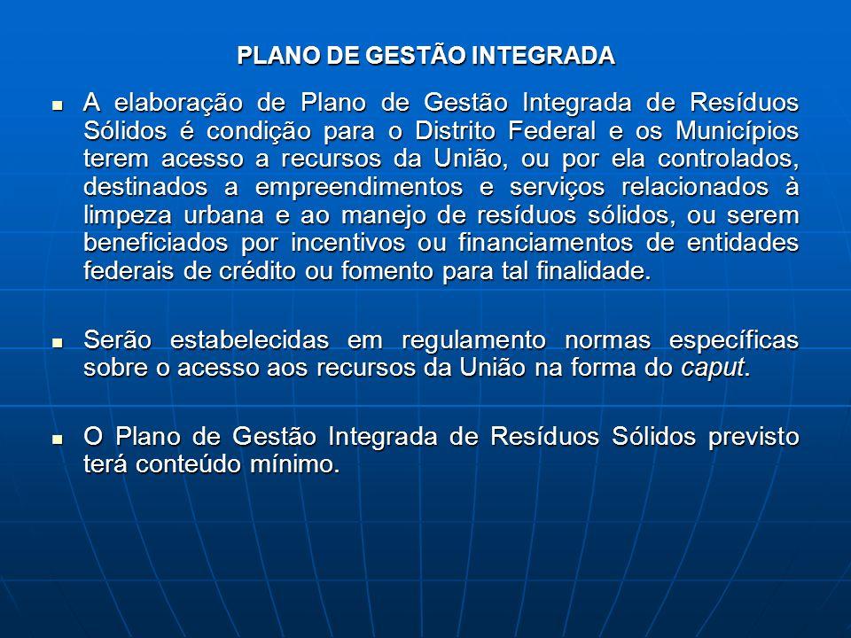 PLANO DE GESTÃO INTEGRADA