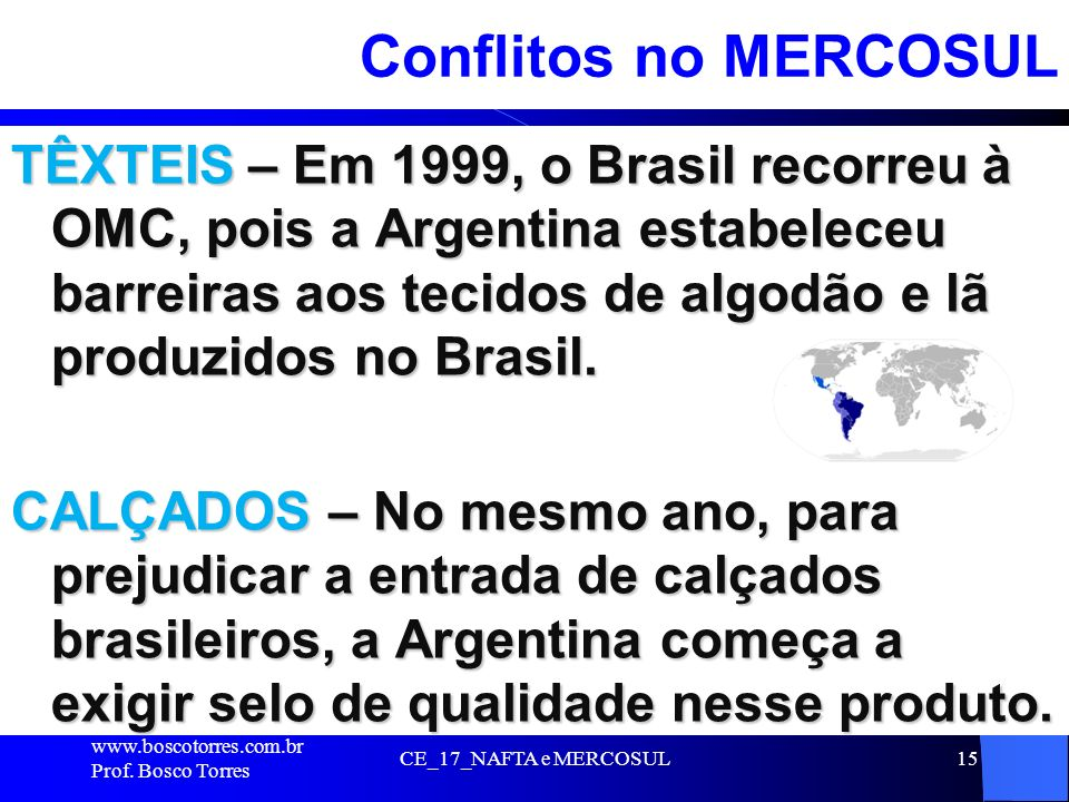 Conflitos no MERCOSUL