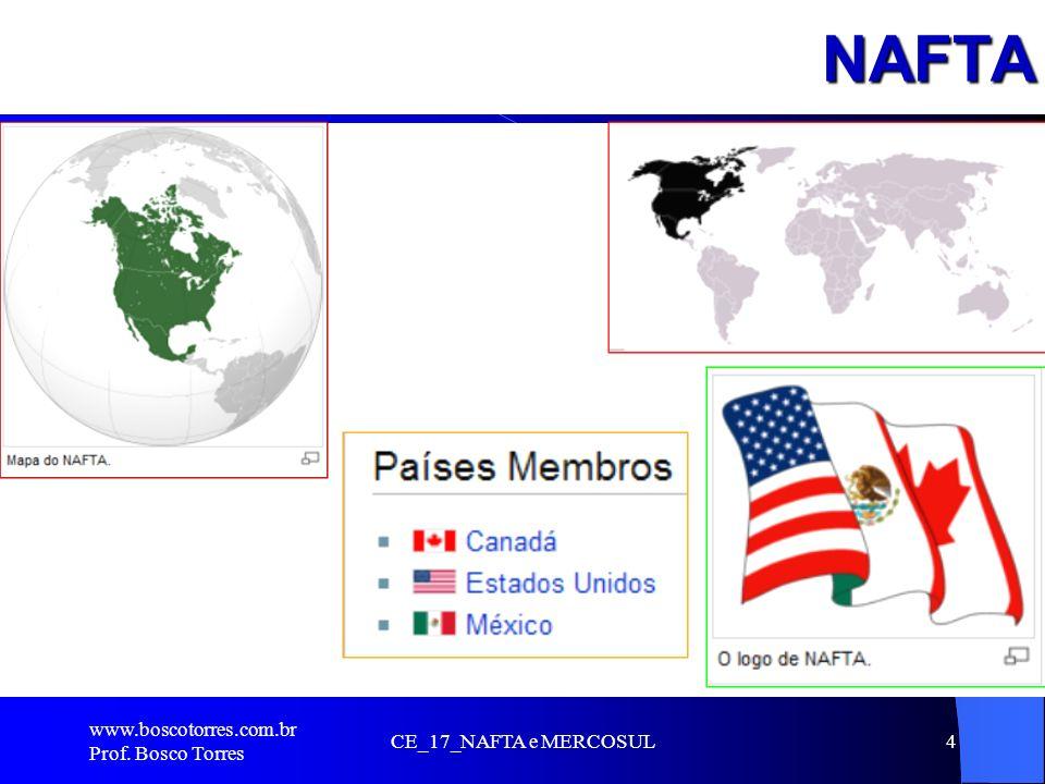 NAFTA .. www.boscotorres.com.br Prof. Bosco Torres