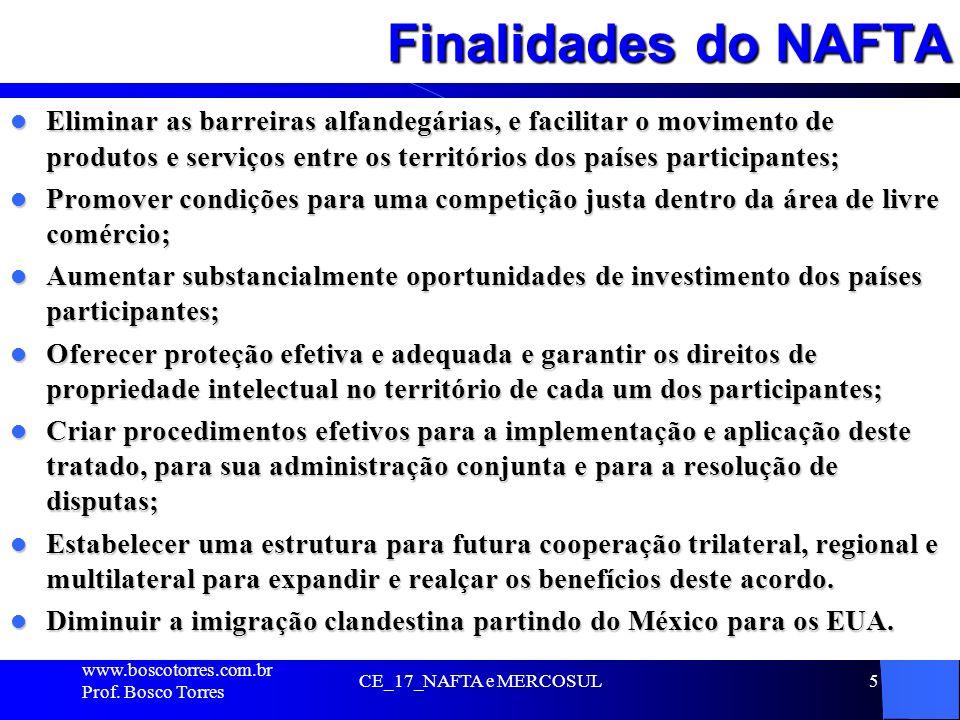 Finalidades do NAFTA