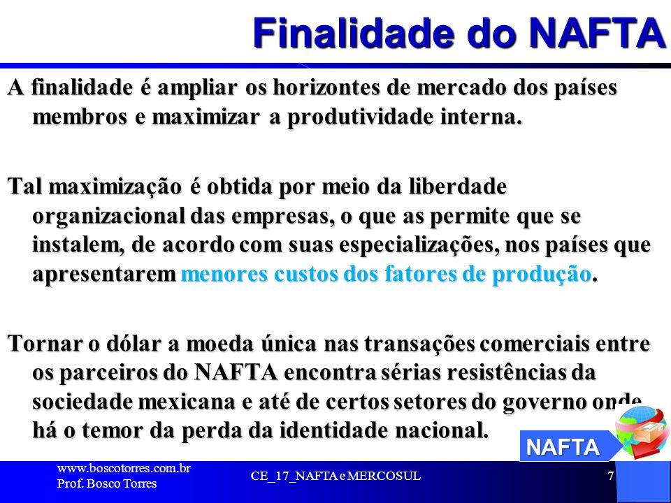 Finalidade do NAFTA