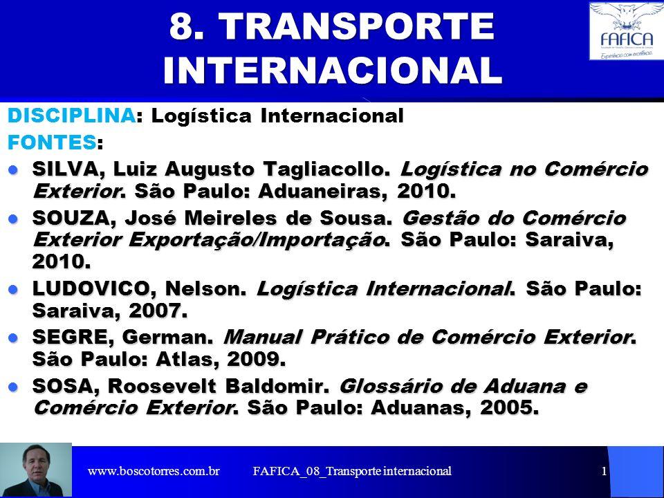 8. TRANSPORTE INTERNACIONAL