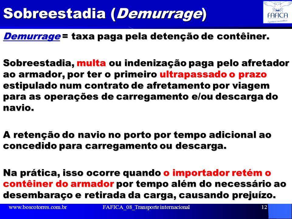 Sobreestadia (Demurrage)