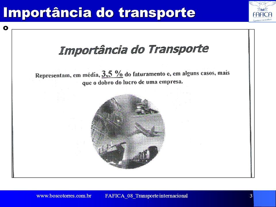 Importância do transporte