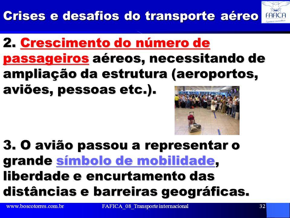 Crises e desafios do transporte aéreo