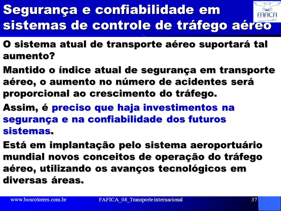 Segurança e confiabilidade em sistemas de controle de tráfego aéreo
