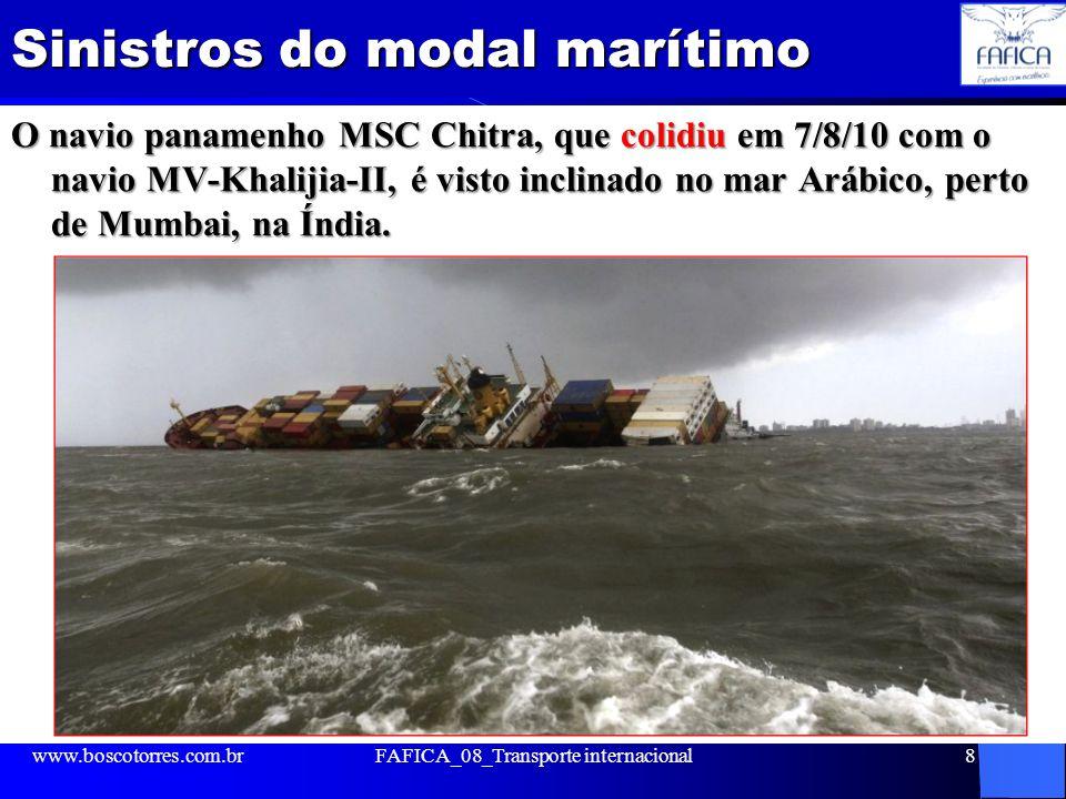 Sinistros do modal marítimo