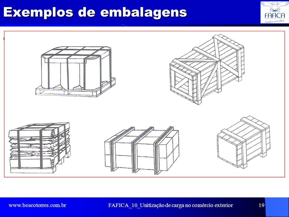 Exemplos de embalagens