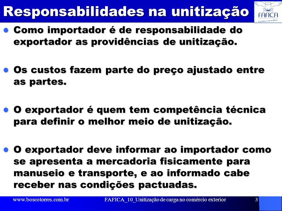 Responsabilidades na unitização