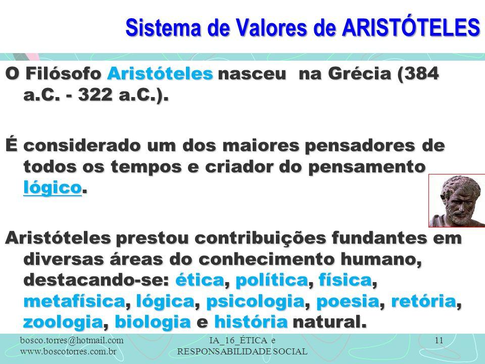 Sistema de Valores de ARISTÓTELES