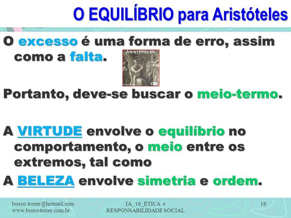 O EQUILÍBRIO para Aristóteles
