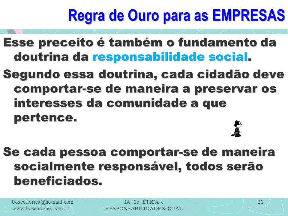 Regra de Ouro para as EMPRESAS