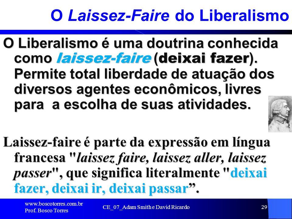 O Laissez-Faire do Liberalismo