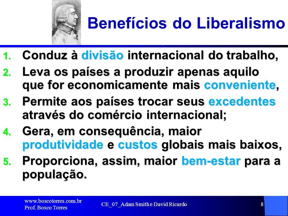 Benefícios do Liberalismo