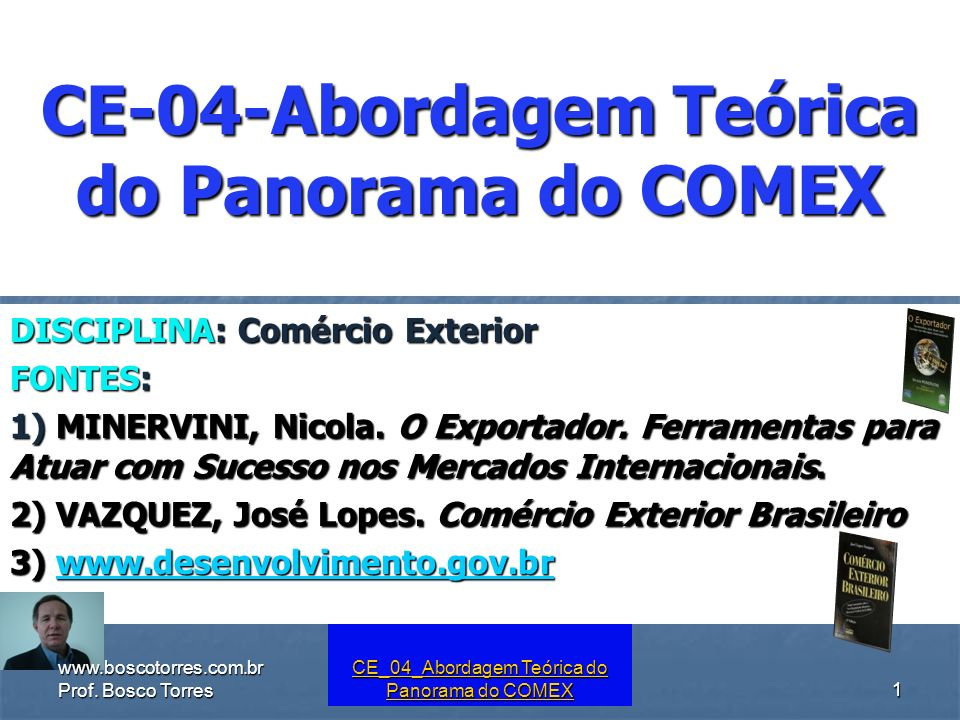 CE-04-Abordagem Teórica do Panorama do COMEX