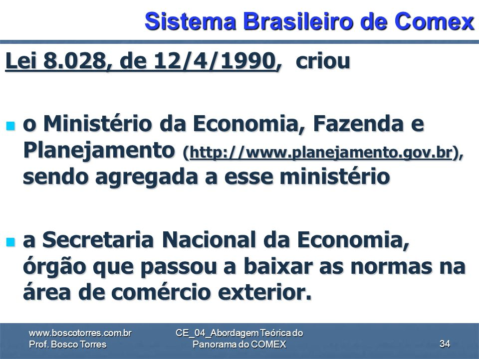 Sistema Brasileiro de Comex