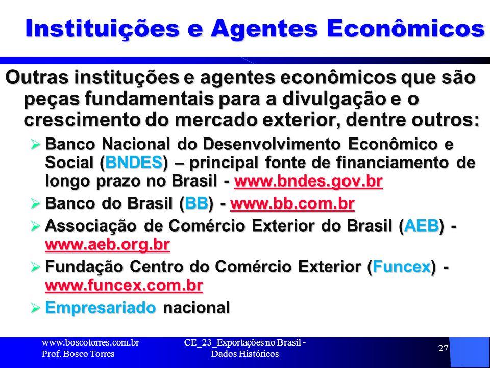 Instituições e Agentes Econômicos