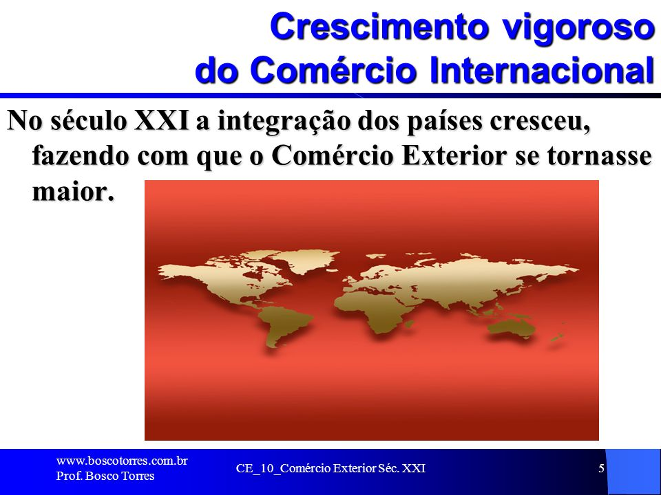 Crescimento vigoroso do Comércio Internacional