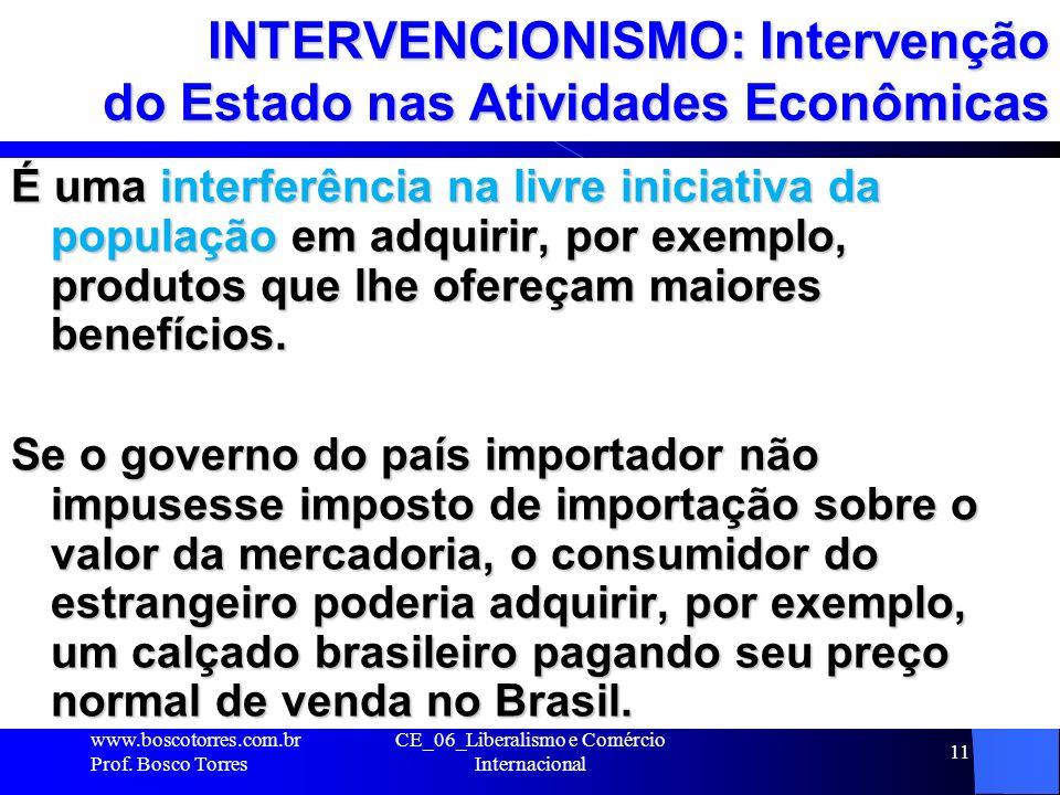 INTERVENCIONISMO: Intervenção do Estado nas Atividades Econômicas