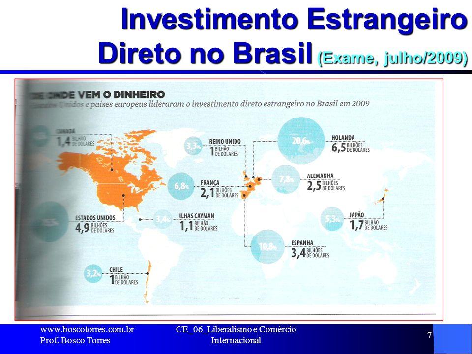 Investimento Estrangeiro Direto no Brasil (Exame, julho/2009)