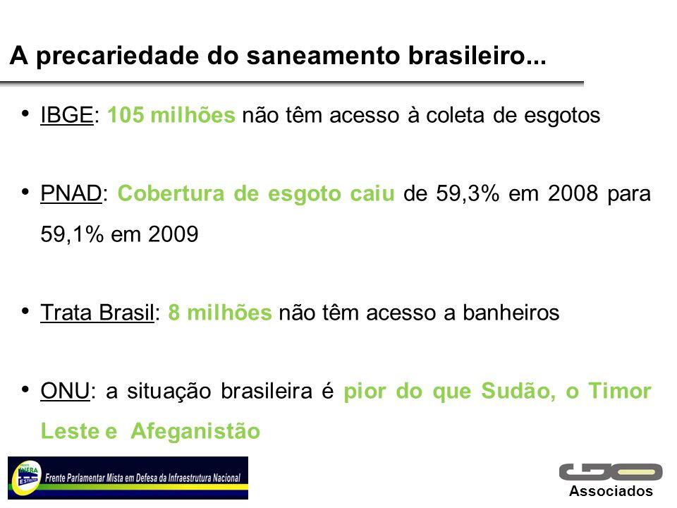 A precariedade do saneamento brasileiro...