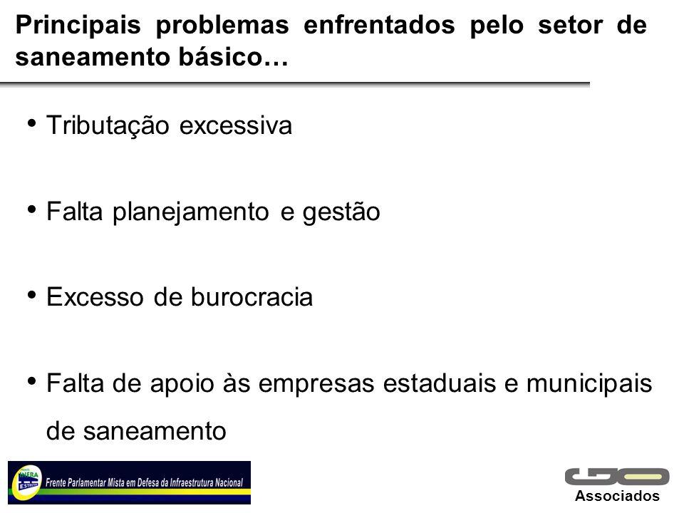Principais problemas enfrentados pelo setor de saneamento básico…